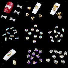 10pcs 3D Alloy Jewelry Gems Nail Art Decorations Glitters Rhinestones Tips