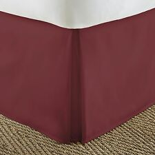 Ultra Premium Quality Pleated Bed Skirt Dust Ruffle by The Home Collection