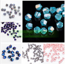 30/100pcs 6mm Faceted Glass Crystal Charm Finding Helix/Twist Loose Spacer Beads