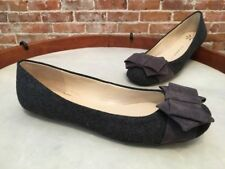 Isaac Mizrahi Megan Grey Flannel Bow Ballet Flats NEW