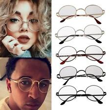 Retro Round Eyeglass Metal Frame Full Rim Glasses Unisex Clear Lens Spectacles