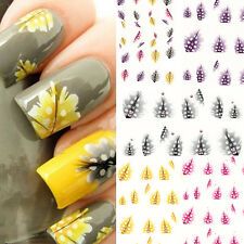 1 SHEET FEATHER SHAPE 3D NAIL ART WATER DECAL STICKER NAIL TIPS DECOR STRICT
