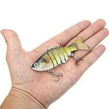 "10cm/4"" Fishing Bionic Multi Jointed Lure SUN-FISH Perch Pike Roach Bass D1Y5"
