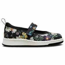 Dr.Martens Askins Darcy Floral Black Womens Mary Janes Floral Print Canvas