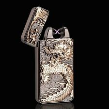 Hot Chinese Dragon Electric Dual Arc Flameless Rechargeable Windproof Lighter MG