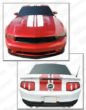 Ford Mustang 2010-2012 Pre-cut Roush Style Top Stripes Decals (Choose Color)