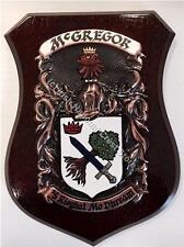 Buck to Bury Family Handpainted Coat of Arms Crest PLAQUE Shield