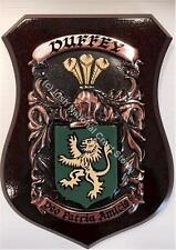 Draper to Dunlevy Family Handpainted Coat of Arms Crest PLAQUE Shield