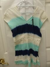 Romeo & Juliet Couture Tie Dye Fringe Bottom Shirt NVWAG - NWT