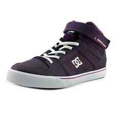 DC Shoes Spartan High EV Youth  Round Toe Leather Purple Sneakers
