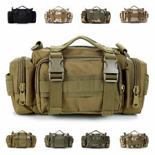 Military Molle Shoulder Messenger Bag Pouch Tactical Assault Fanny Waist Pack