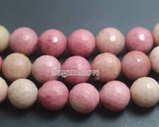 Natural Red Rhodonite Gemstone Beads Round Faceted Beads 4mm 6mm 8mm 10mm 12mm