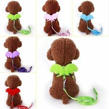 Training Dog Pet Puppy Cat Adjustable Angel Harness Lead leash Traction rope