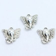 32/300pcs Tibetan Silver Elephant Head Charms Crafts Pendants Jewelry 15x16mm
