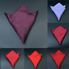HS Mens Silk Pocket Square Hankie Handkerchief Various Colours Free Shipping