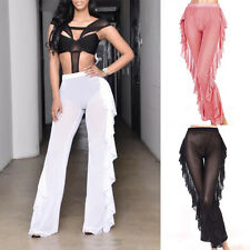 Sexy Women Ladies Summer Beachwear Long Wide Leg Pant Trousers S M L