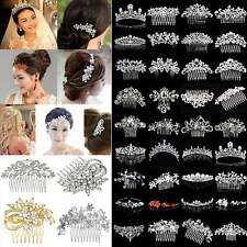 COOL Bridal Wedding Rhinestone Crystal Hair Headband Crown Comb Tiara Pageant