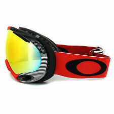 Oakley Ski Goggles A Frame 2.0 59-648 Shaun White Old Glory Red Fire Iridium