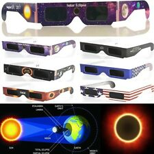 Solar Eclipse Glasses 2017 Galaxy Edition CE and ISO Standard Viewing 10 Packs
