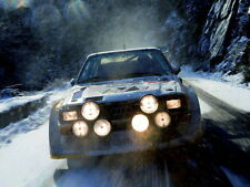 Audi Quattro Rally Snow Headlights Front Sport Wall Print POSTER CA