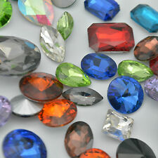 Mixed Shapes Sizes Colors Rhinestones Point back Chatons Crystal Glass Nail A C1