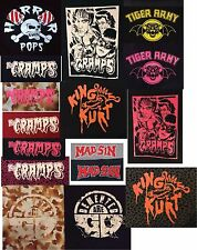 PSYCHOBILLY punk rock n roll  big back patches KING KURT CRAMPS DEMENTED ARE GO