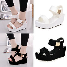 Womens Ladies Open Toe Platforms Wedges Sandals Casual Summer High Shoes Size2-5