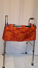 Walker Accessory W/Velcro Apron Bag Carrier 3 Pocket Tote Carry Pouch Organizer
