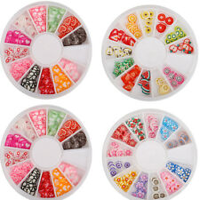 DIY Mix Fimo Slices Polymer Clay Stickers Nail Art Decoration Manicure Design