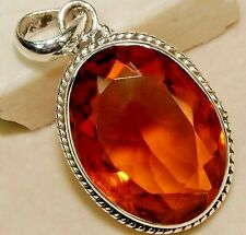9 CARATS Natural Citrine Oval Ladies Pendant 925 Solid Genuine Sterling Silver