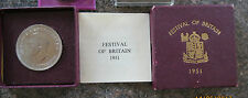 1951 Crown Boxed Festival of Britain Plus 8 Other Coin Free Postage
