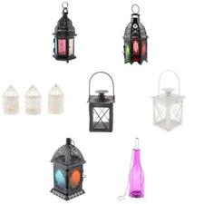 OUTDOOR INDOOR TEA LIGHT CANDLE HOLDER CANDLESTICK GARDEN HANGING LIGHT LANTERN