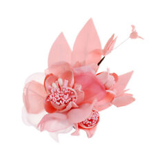 Elegant Hair Clip Brooch Large Flower Bridal Pin Wedding Prom Party Hairpin