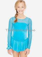 NWT Figure Skating Dance Dress Ice Blue Leotard Justice Girl 6 8 10 12 14 16 18