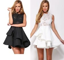 Sexy Chic Layered Romance Lace Dress Skater Flare Formal Cocktail Party 10 12