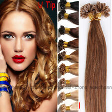 0.5g/1g Nail U Tip Human Hair Extensions 100% Remy Real Hair Extension Brown C79
