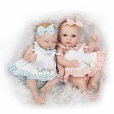 Beautiful 11''Reborn Baby Doll Soft Silicone Girl Twins Handmade Livelife Gift