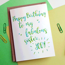 Personalised Birthday Card - Niece - Friend - Sister - Cousin PRINTED WITH NAME