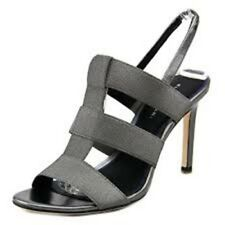 ELIE TAHARI  Womens Ithaca •Pewter• High Heel Stretch Caged Sandals