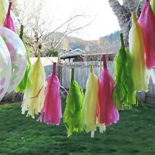 5Pcs Tissue Garlands Bunting Ballroom Paper Tassels Home Wedding Party Decor UK