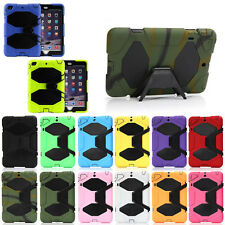 Heavy Duty Hybrid Silicone Shockproof Cover Case Stand for Apple New iPad Tablet