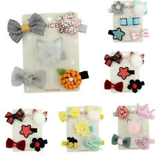 5Pcs/set Cute Hairpin Baby Girl Hair Clip Bow Flower Mini Barrettes Kids Infant