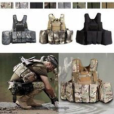 Tactical Military Airsoft Vest Paintball Molle Strike Plate Carrier Swat Combat
