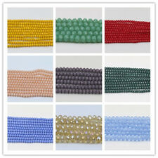 Rondelle Faceted Crystal Glass Loose Spacer Beads 4mm/6mm/8mm/10mm Crafts Charms