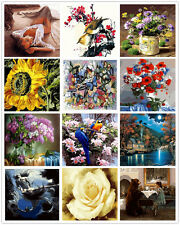 "16X20"" Paint By Number Kit DIY Beauty Flower Digital Oil Painting Canvas Decor"