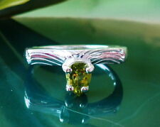 Ring Sterling Silver 925 with stone Olivine Peridot green Stone of the Sun