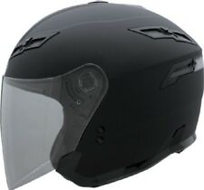 Gmax Solid GM67 Open Face Flat Black Helmet 2014 Motorcycle Scooter