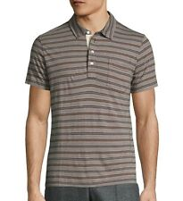 Billy Reid Men's Short Sleeve Pensacola Striped Polo Ice Amber $95 msrp NWT
