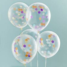 """Ginger Ray 12"""" Birthday and Confetti filled Party Balloons Decoration"""
