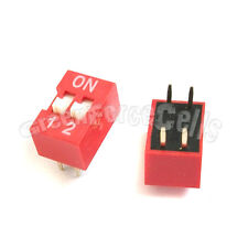 20  2 Position Ways Slide Style DIP Switch 2.54mm Pitch Gold Tone 4 Pin PCB